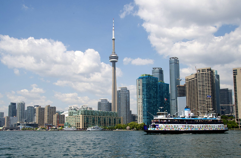 A ferry to the Toronto Island on the waterfront