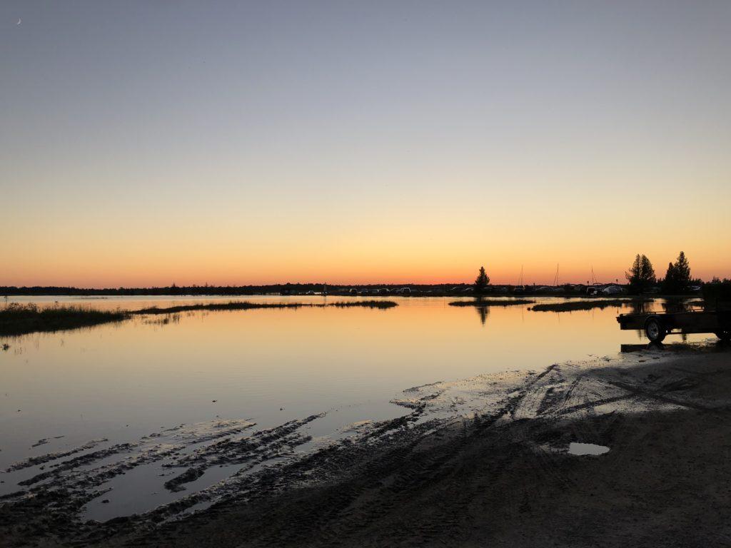 Sunset over Oliphant Beach, Bruce Peninsula.