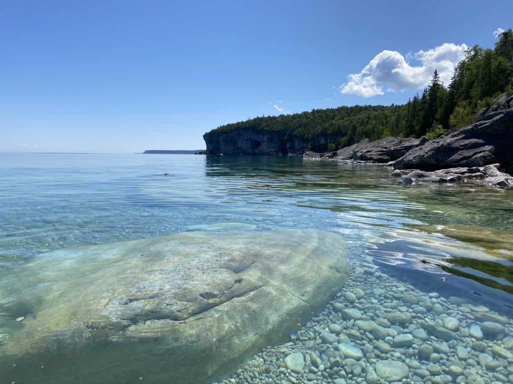 The rocky beach at Storm Haven, Bruce Peninsula.