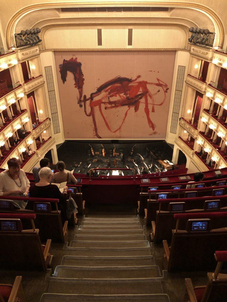 Standing room rush seating at the Vienna Opera House Wiener Staatsoper