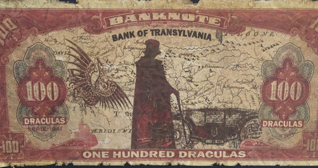 Dracula's Dollars souvenir from Transylvania