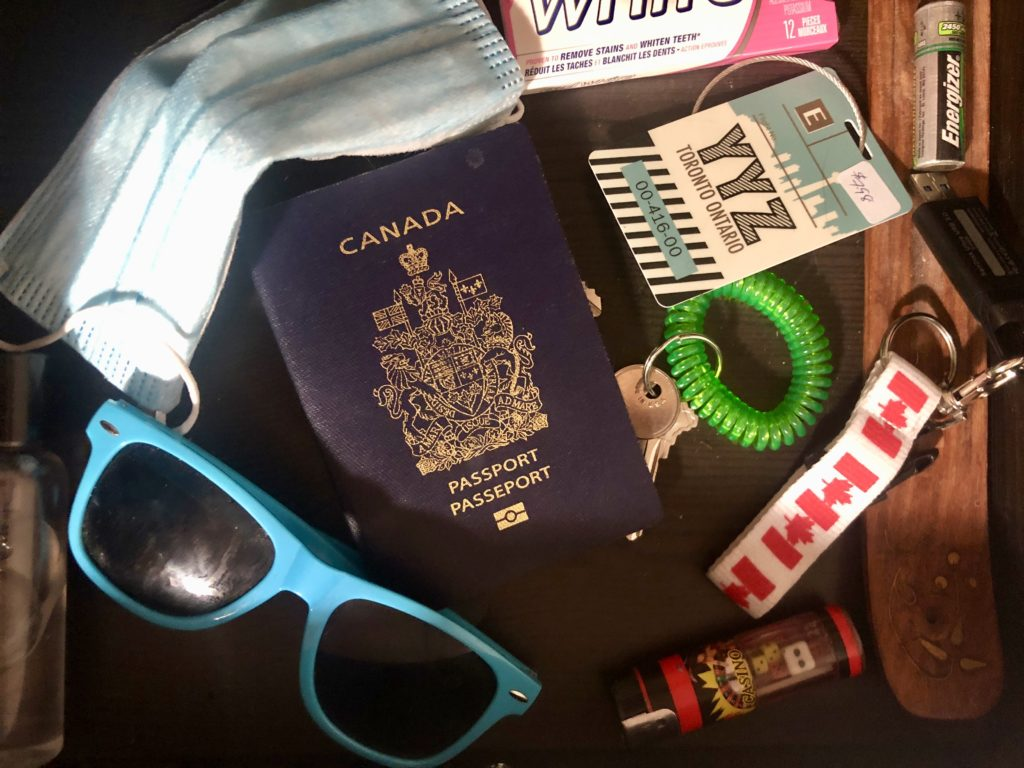 Canadian Passport in a drawer