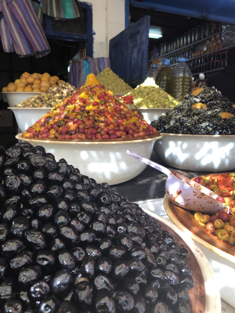 Olives for sale in Essaouira market, Morocco