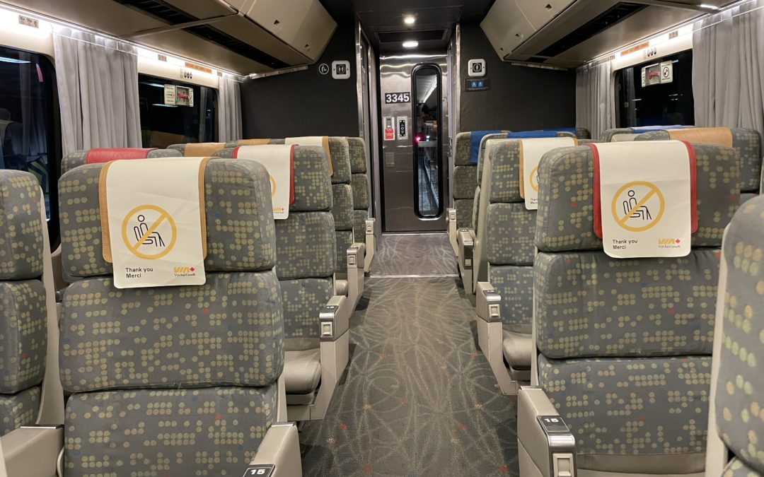 What to expect riding Via Rail during Covid