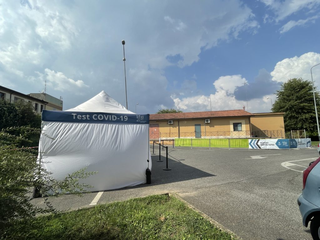 Covid test site near Rome, Italy
