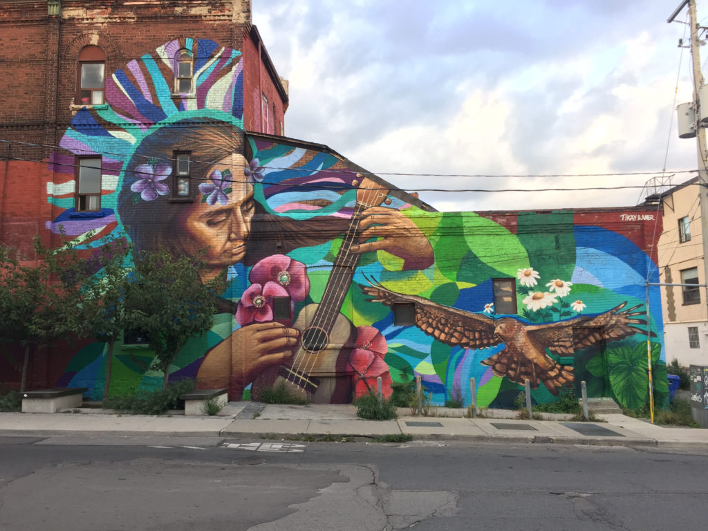 Mural of Violeta Para on Dundas West in Toronto