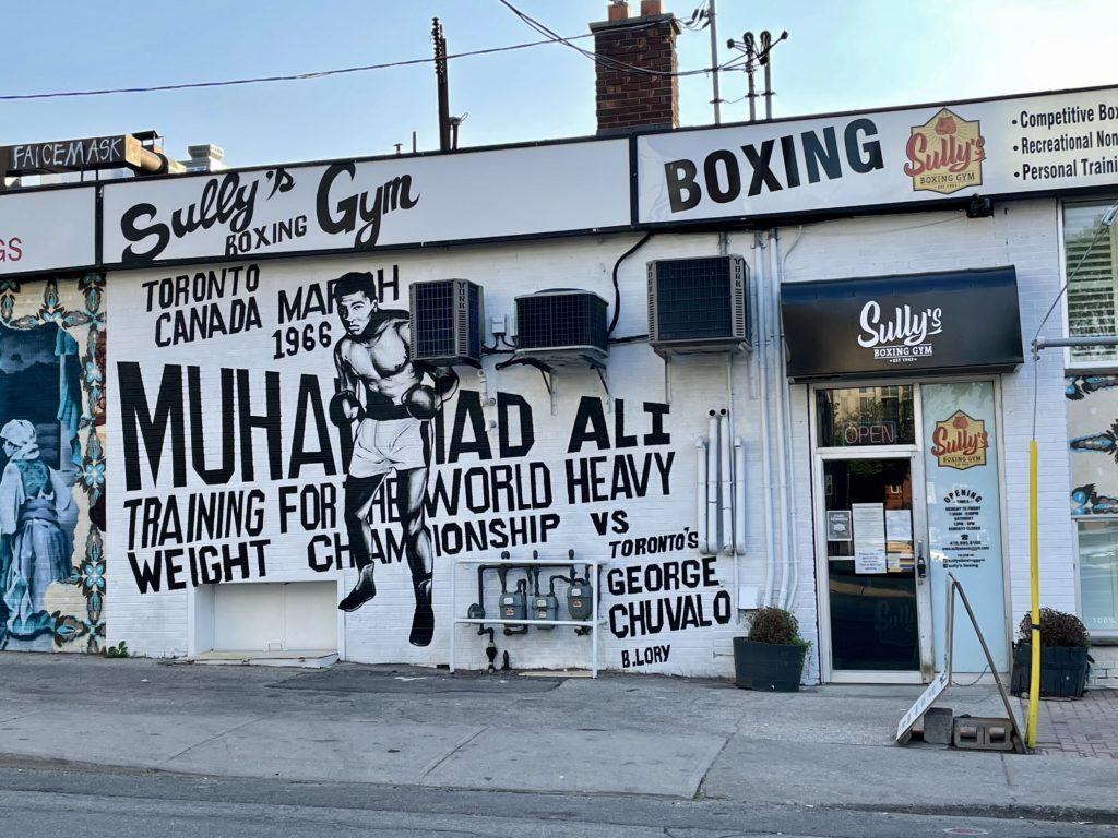 Mural of Muhammad Ali on Dundas West in Toronto