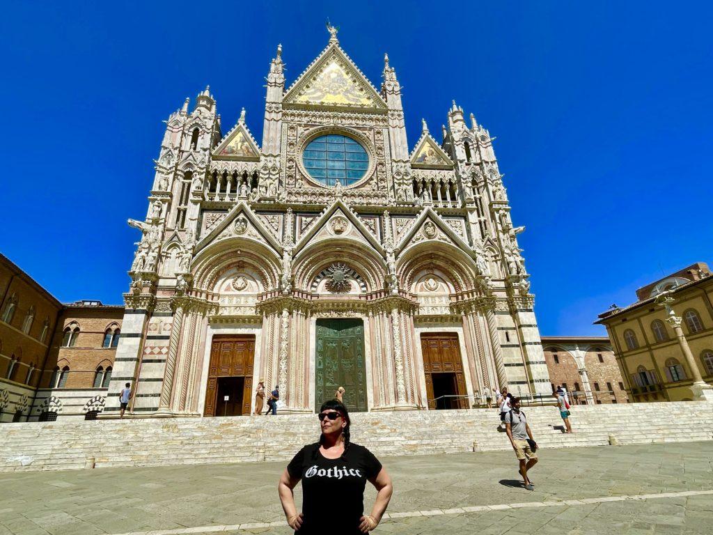 Liisa at the Siena cathedral Tuscany, Italy